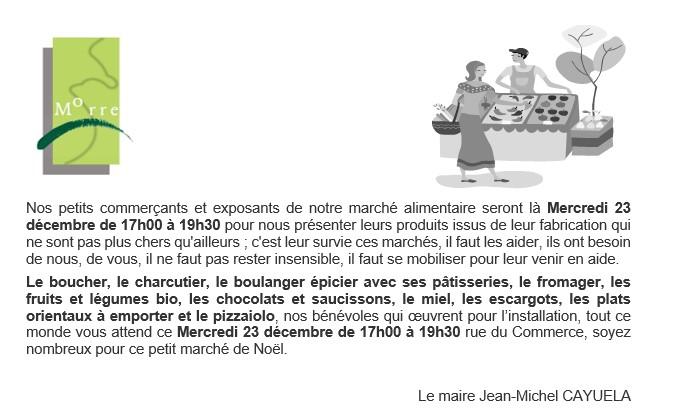 Marche Des Producteurs Noel Mercredi 23 Decembre Commune De Morre